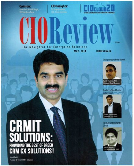 CRMIT Solutions makes it to the covers of CIOReview