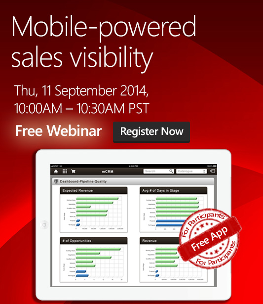 Mobile Webinar for CRM On Demand Customers