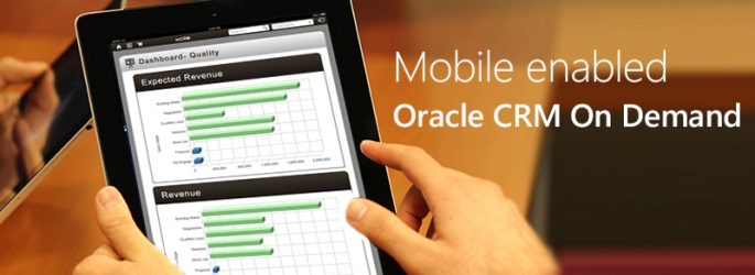 Mobile enabled Oracle CRMOD