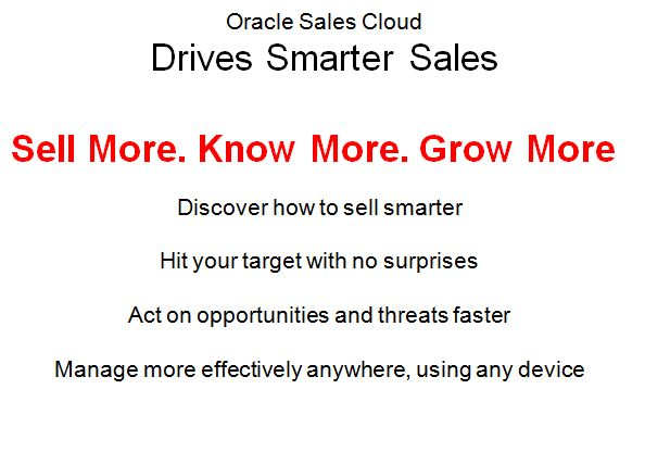 Drive sales with Oracle Sales Cloud