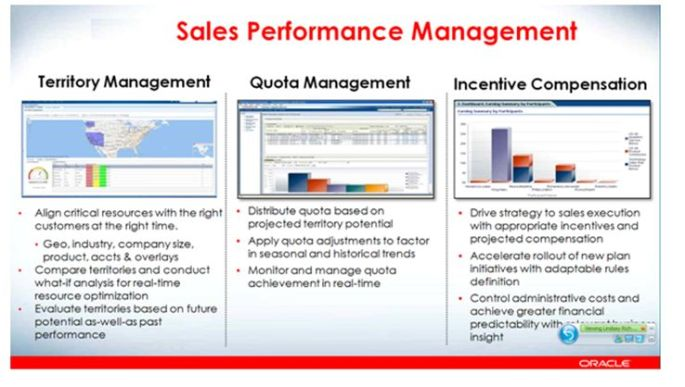Oracle Sales Cloud Performace management